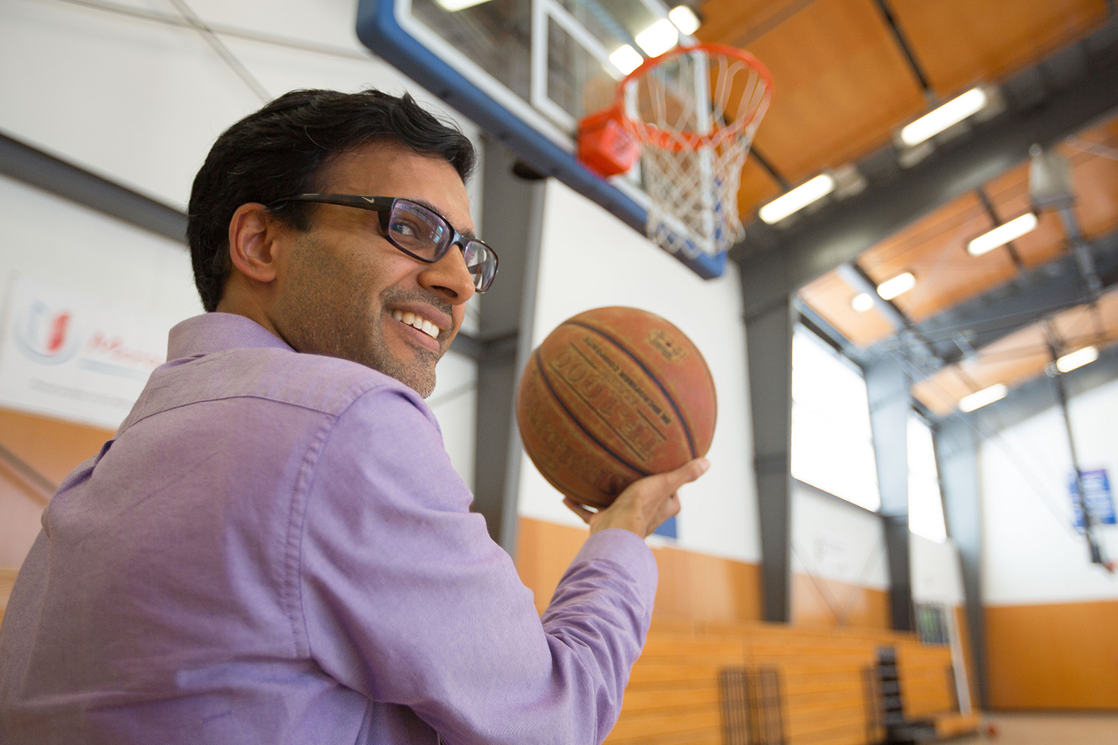 Professor Harish Bhat won't say his NBA predictions are a slam dunk, but they are pretty accurate.