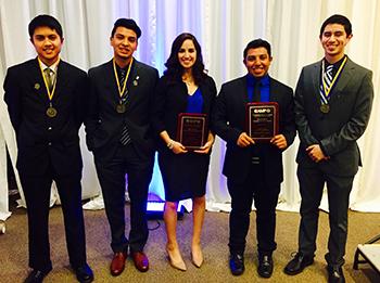 From left: Kyle Kabasares, Bryan Rangel, Victoria Arias, Cristhian Gutierrez-Huerta and Christian Montes.