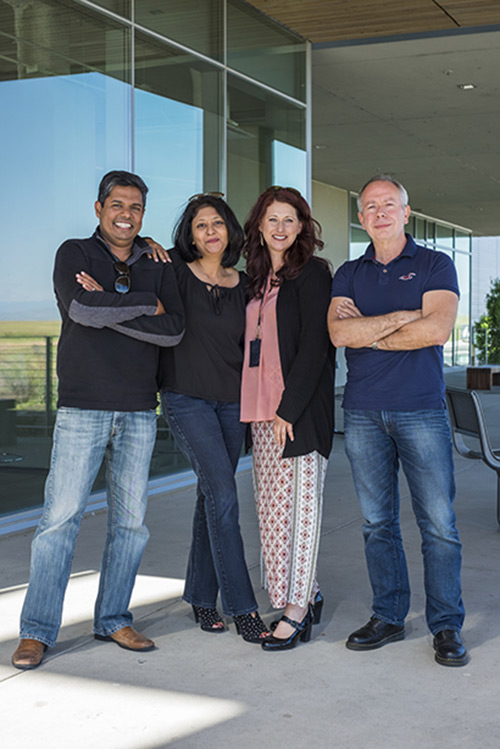 From left, professors Gopinathan, Ghosh, McCloskey and Muñoz have big plans for the CCBM.