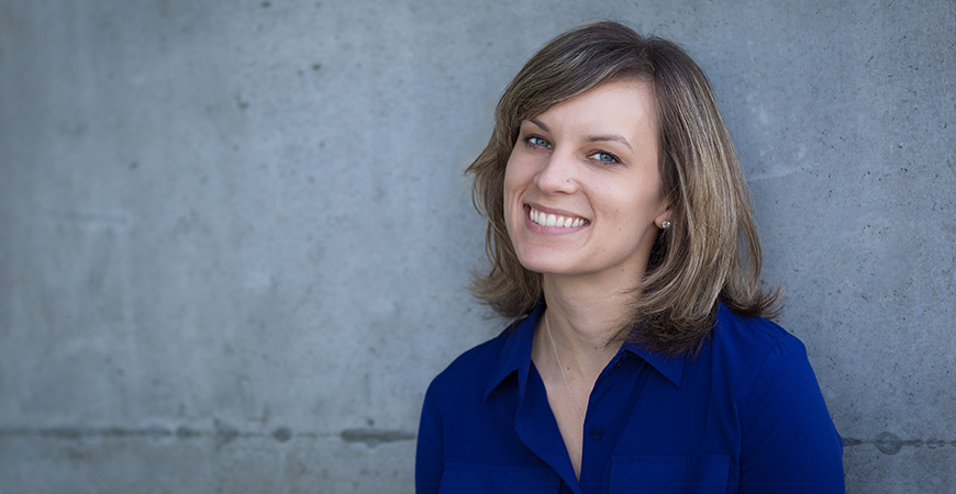 Graduate student Holly Rus
