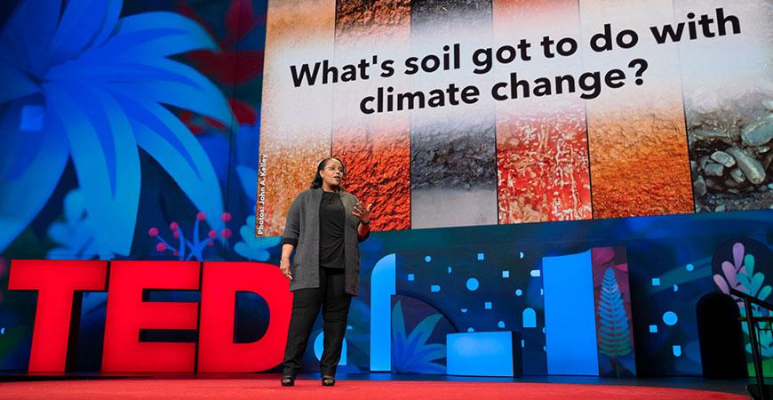 Professor Berhe at TED hero