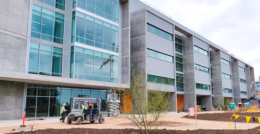 The Sustainability Research and Engineering Building will house the university's first Center of Excellence.