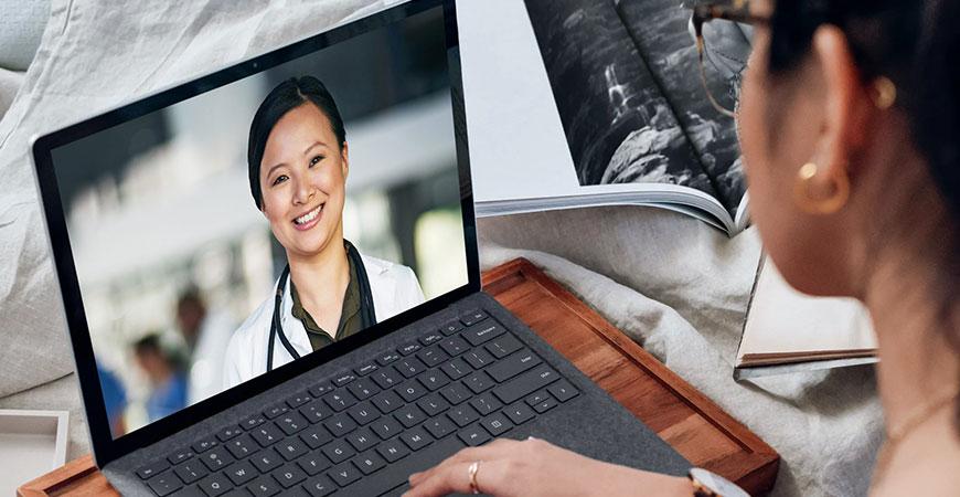 Telehealth virtual appointment hero