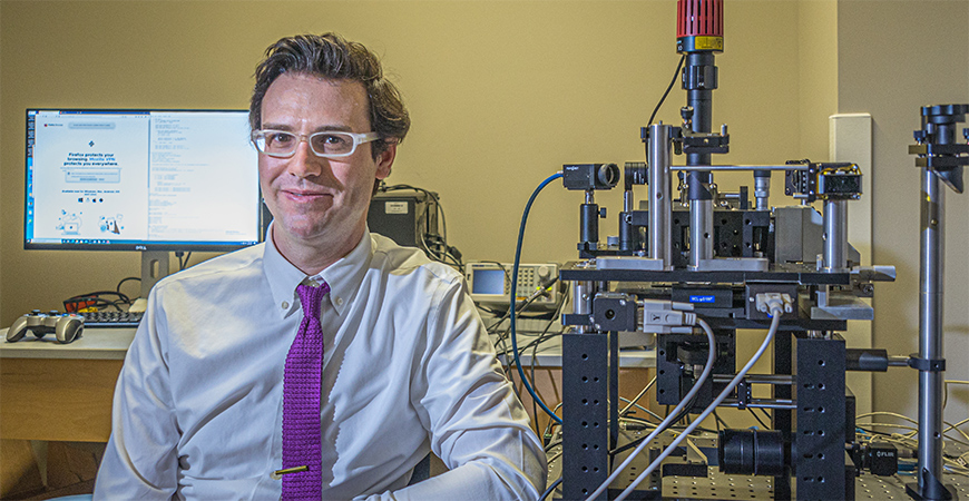 Physics Professor Dustin Kleckner studies structure in fluid and soft matter systems.