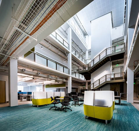 UC Merced's Downtown Campus Center was recognized for its overall sustainable design and is the first electrified building in the UC system.