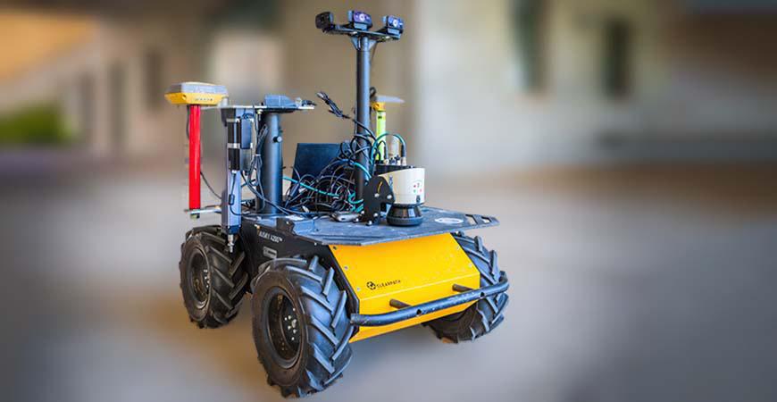 Robot for plant-moisture-measuring system