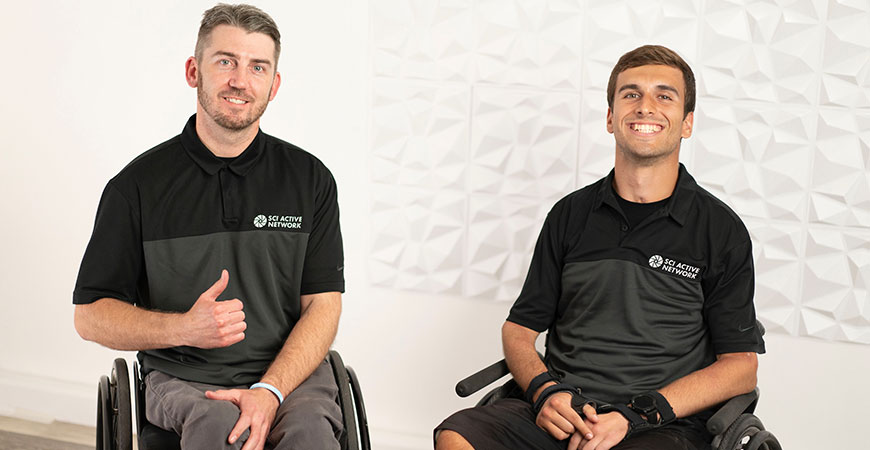SCI Active Network CEO and Founder Troy Plunkett and recent UC Merced alumnus Joseph Bello ('21).