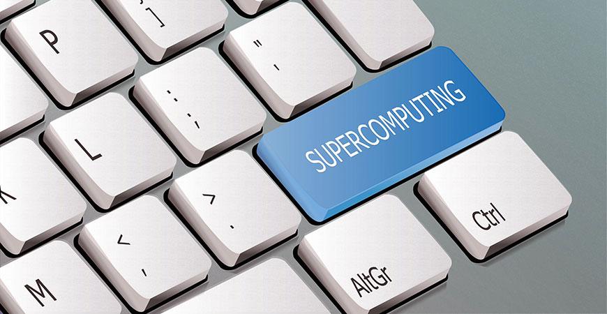 Supercomputing keyboard graphic hero