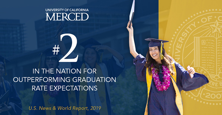 At UC Merced, all students have the opportunity to achieve their potential.