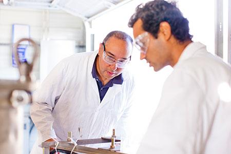 Gerardo C. Diaz oversees the Sustainable Plasma Gasification Laboratory