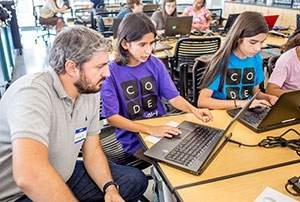 UC Merced's STEM Resource Center offers a four-day workshop focused on inspiring girls from seventh to 12th grade to learn computer coding.