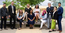 The inaugural class of graduates from the Master of Management (MM) degree offered by the Ernest & Julio Gallo Management Program.