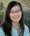 Female portrait-brunette with glasses long hair